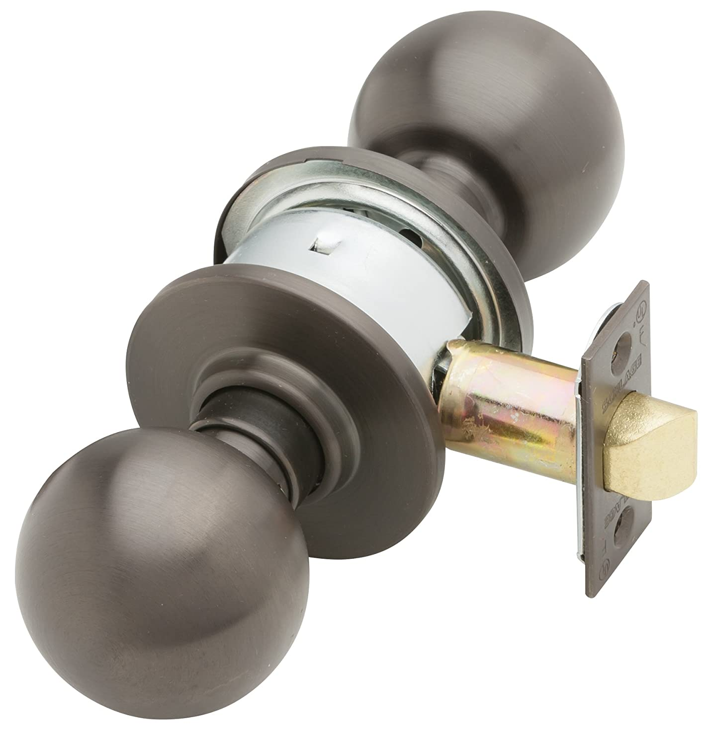 Schlage A10S ORB 613 Series A Grade 2 Cylindrical Lock Keyless Orbit Design Passage Function Oil Rubbed Bronze Finish