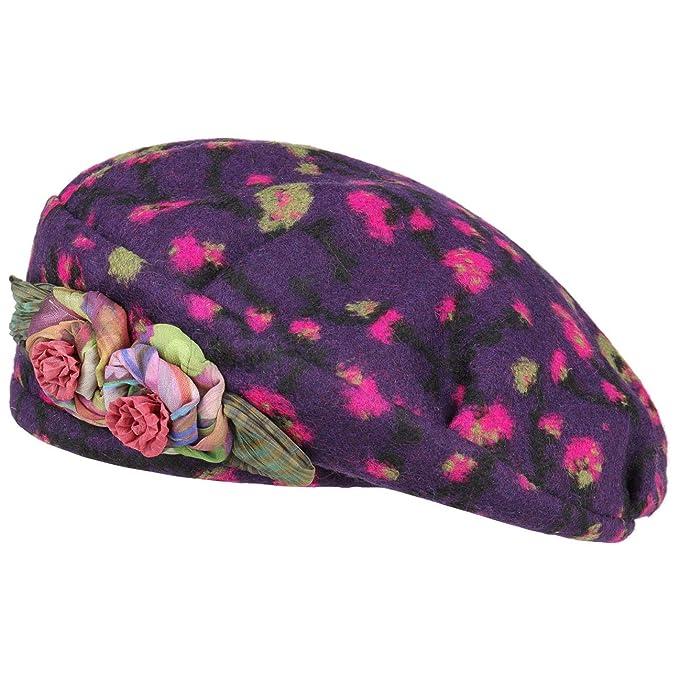 GREVI Berretto Basco Flower da Donna Invernale Taglia Unica - Lilla   Amazon.it  Abbigliamento d9ea9e62cd2a