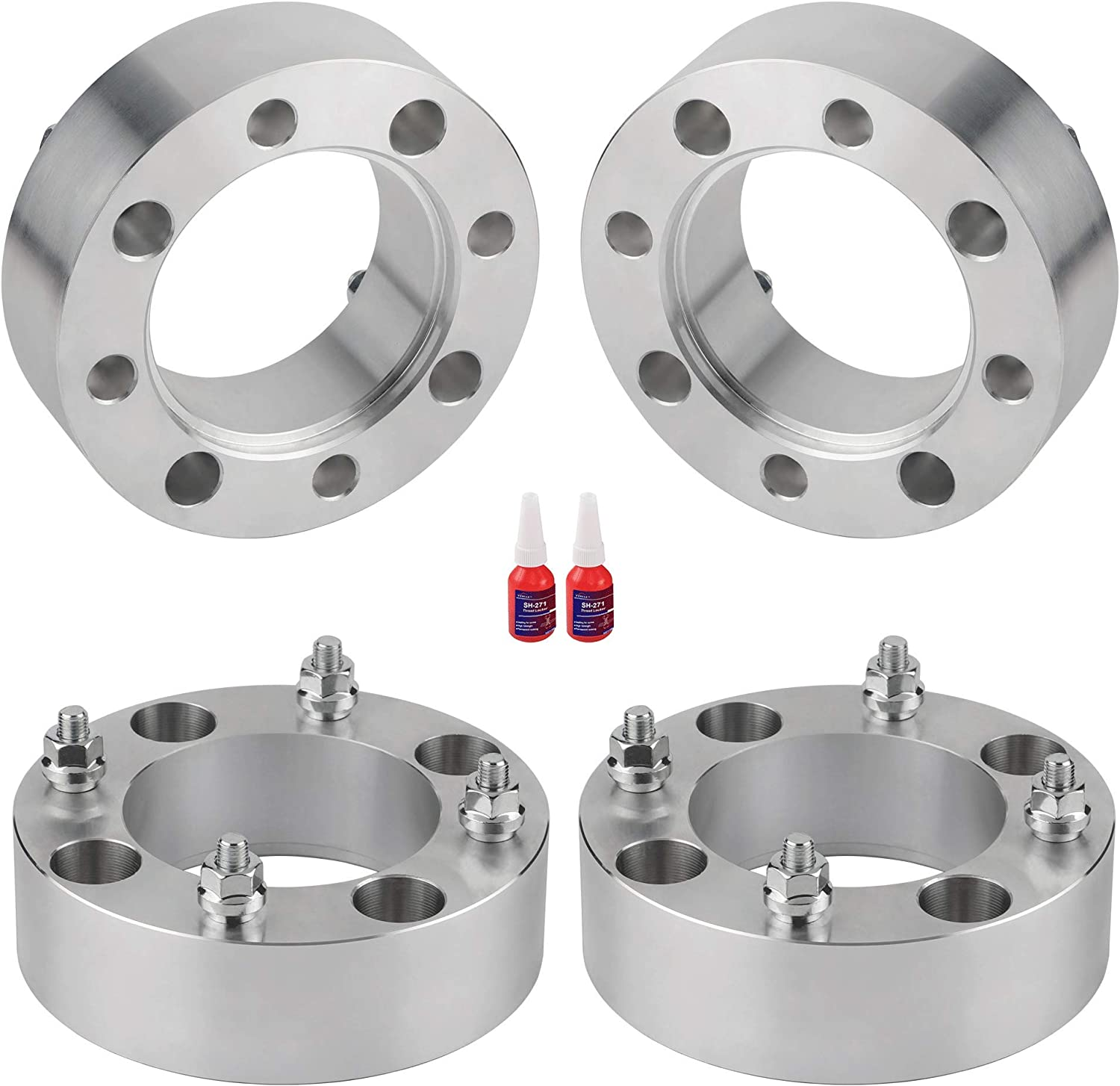 FLYCLE 4 Pcs 4x137 to 4x137 ATV Wheel Spacers,2 4x137 wheel spacer 110mm 10x1.25 Studs for CAN-AM Bombardier Outlander Commander Kawasaki Mule