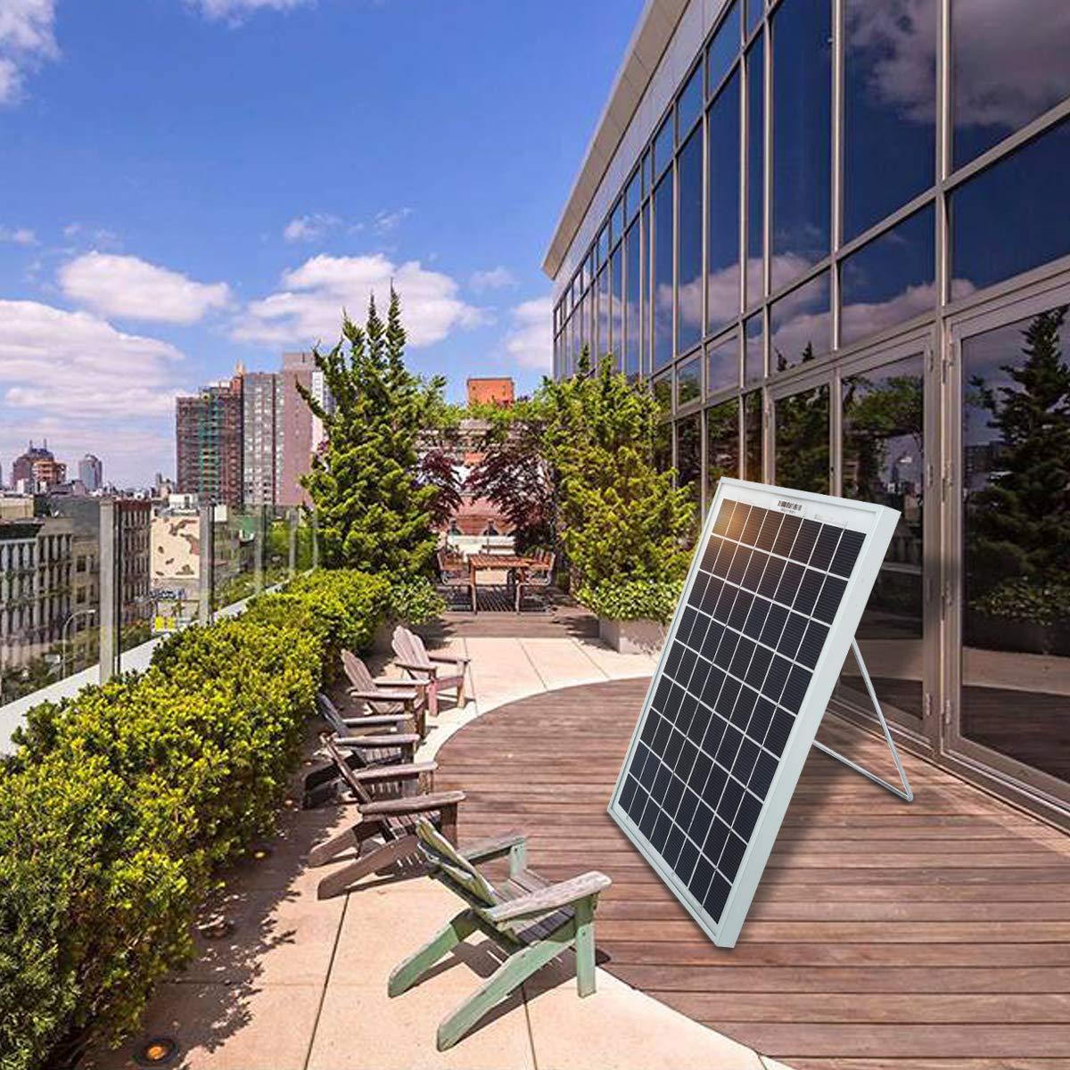 barcos paneles solares con soporte Betop-camp Paneles solares mono de 10W 12V para autom/óviles autocaravanas caravanas con pinzas de cocodrilo de 5 m