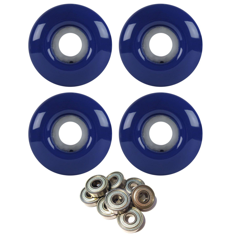 Skateboard Wheels 97A 52mm Navy Blue with ABEC 7 BEARINGS   B01HK39CM6