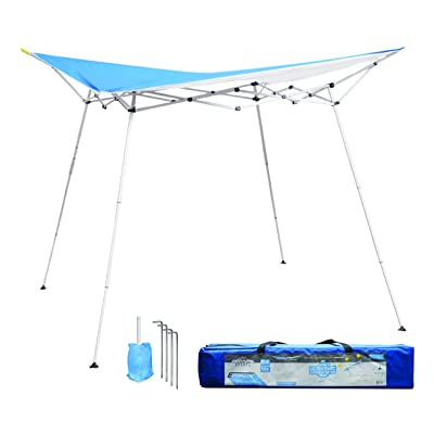 Caravan Canopy EVO08021 8' x 8' Evo Shade Instant, Blue Top/White Frame Canopy: Garden & Outdoor