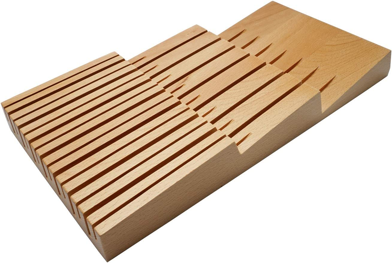 Super intense SALE HomeEase In-Drawer Beechwood Our shop OFFers the best service knife block Organizer H and Drawer