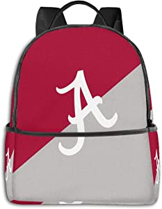 Alabama Crimson Tide Backpack Durable Waterproof Anti-Theft Laptop Backpack Travel Backpack School Bag, Suitable for Boys and Girls School Backpacks