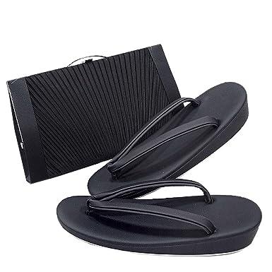 8f71dacbbc1d6a Amazon | 着物 喪服用 草履バッグセット 黒 (サイズ:M-L ) | 和装小物 ...