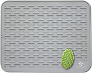 """Silicone Dish Drying Mat & Scrubber 