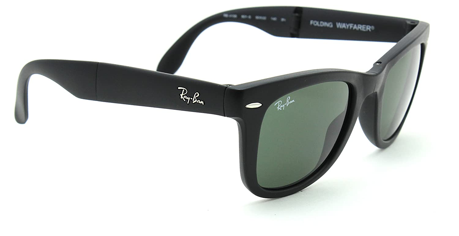 2238fe477ba66 ... switzerland amazon ray ban rb4105 wayfarer folding classic sunglasses  matte black 601s 50mm clothing 81ef4 87e8a