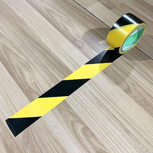 ancho 48 mm Cinta de advertencia color negro y amarillo