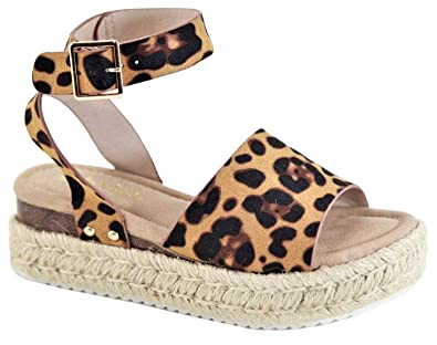 9331be40a30 Amazon.com | Bella Marie Women's Flatform Platform Espadrille Ankle ...