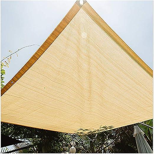 GuoWei- Velas de sombra 75% Solar Obstruido Malla Neto Transpirable con Ojales For Cubrir Jardin Plantas Pérgola Al Aire Libre Personalizable (Size : 3x3m): Amazon.es: Jardín