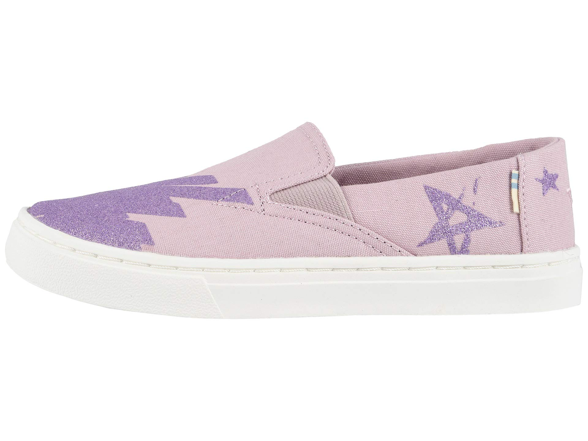 TOMS Youth Luca Slip-On Shoes, Size: 3.5 M US Big Kid, Color: Brnsh Lilac Glt Star by TOMS Kids (Image #6)