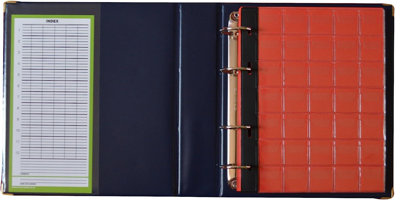 mit Seiten und Roten Trennbl/ättern Blau M/ünzalbum Collector M/ünz-Sammelalbum f/ür 221 Verschiedene M/ünzen-Gr/ö/ßen von Gro/ßen bis Kleinen M/ünzen Index