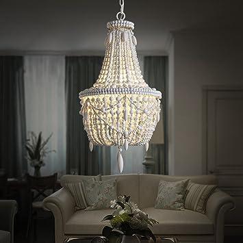 Rustikale Moderne Persönlichkeit Holzperlen Kette LED Kronleuchter, Hotel  Villen Wohnzimmer Restaurant Deckenleuchten, Natürliche Handgefertigte