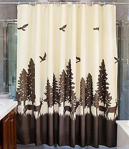 Love Creative Mold Mildew Resistant Shower Curtain Heavy Duty Waterproof Polyester Bathroom Liner Rustproof