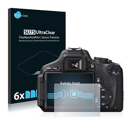 savvies Protector Pantalla Compatible con Canon EOS 600D (6 ...
