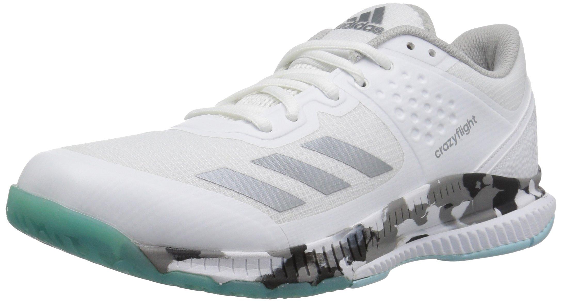adidas Performance Women's Crazyflight Bounce W Volleyball Shoe, White/Night Metallic/Grey Two, 14 Medium US