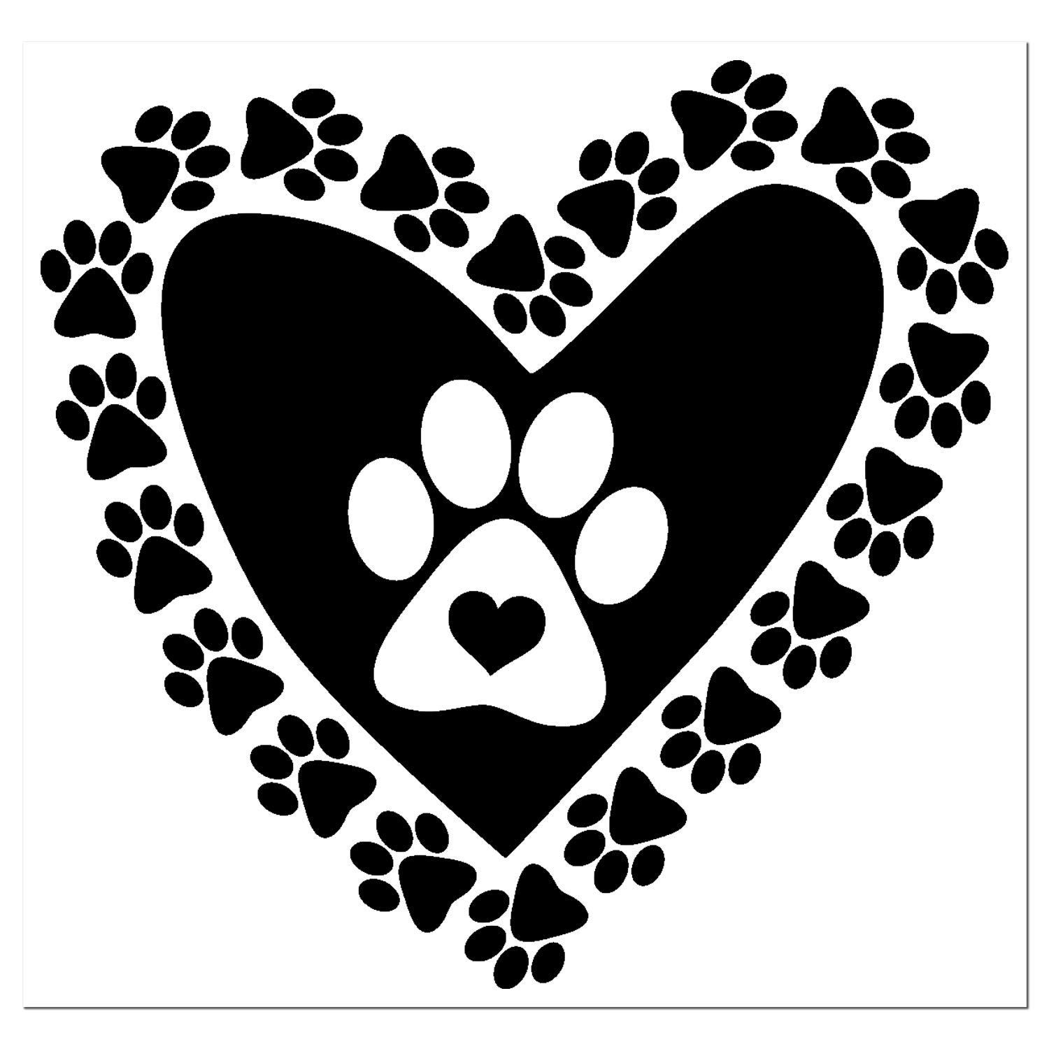 Amazon.com: Dog Paws Heart Shaped With Solid Heart With Paw Decal - Pet Dog  Footprint Heart Custom Vinyl Sticker Heart Paw - Dog Lover Decal - Many  Colors and Sizes to Choose