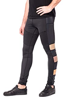 1b6a22737ec4e4 Kapow Meggings Colourful Sports Compression Mens Leggings, Cool Dry Yoga &  Running Tights