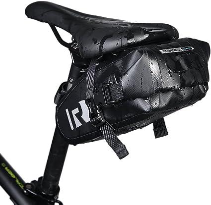 WHEEL UP Strap-On Bike Bag Under Seat Pack Waterproof Wedge Saddle Bag//Seat Bag for Cycling
