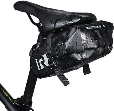 DCCN Alforja Impermeable para el sillín de la Bicicleta: Amazon.es ...