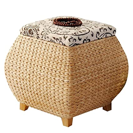 Merveilleux Footstools YXX  Wood Color Storage Stool Basket Shoe Bench Foyer Sofa Stool  Living Room Bedroom