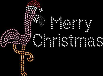 Rhinestone Iron on Transfer Hot Fix Christmas Dear Santa Did you get my text?