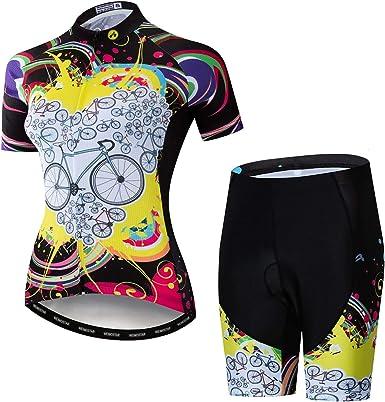New women short Sleeve MTB Bike Cycling Jersey Pants Set Bicycle Clothing Wear