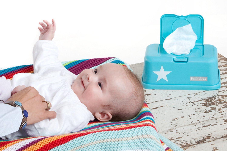 Funkybox Caja Toallitas con Estrella Blanca Naranja/Blanco: Amazon.es: Bebé