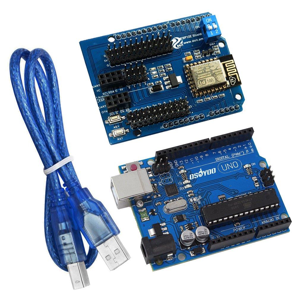 Kookye Esp8266 Uart Wifi Shield With Uno R3 Board For High Quality Arduino Atmega328p Dip Dengan Usb Kabel Cable Elektronik