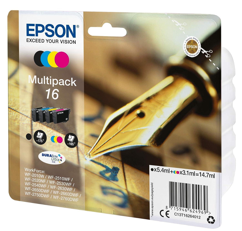Epson C13T16344010 - Cartucho de tinta, amarillo,paquete estándar ...