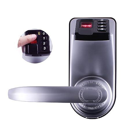 ADEL 3398 Biométrica Digital Cerradura de Puerta Metal Keyless Fingerprint Doorlock Manguera Reversible para Mano Derecha