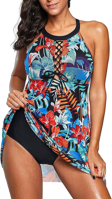momolove Womens One-Piece Swim Dresses Polka Dot Swimsuit Plus Size Skirted Swimwear