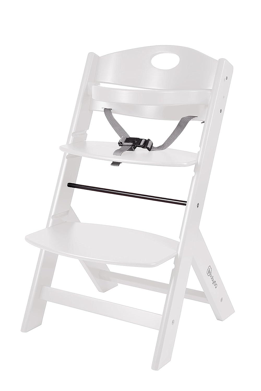 BabyGO 5854 Treppenhochstuhl Holz aus Buche Massiv - mitwachsend, weiß BabyGo Baby Products GmbH