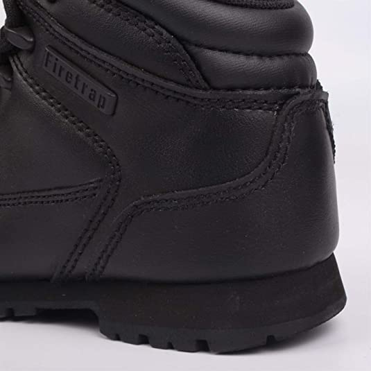 Firetrap Rhino Infants Boots Childrens Rugged Padded Ankle Collar High Leather