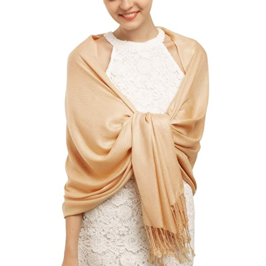 f38ff06a0b7ab Women's Large Scarf Shawl Wrap- FURTALK Wedding Evening Dress Blanket  Scarves In Solid Color Cashmere