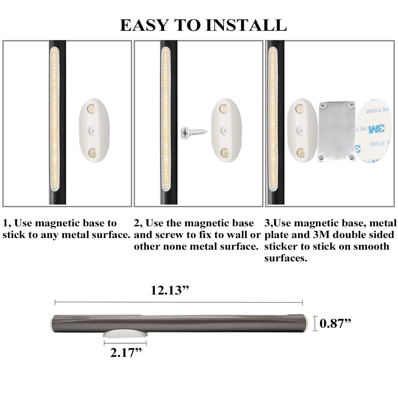 NBtop LED Tube Magnetic Light Closet Light USB Rechargeable Portable Enduring to 288 Hours