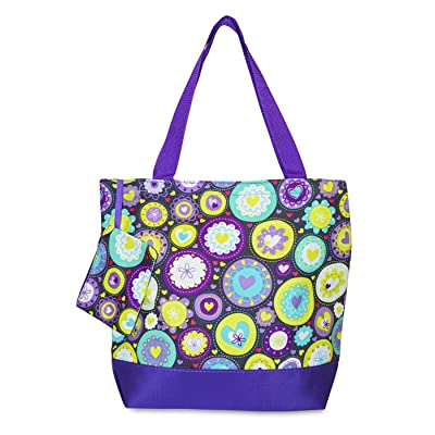 Ever Moda Heart Tote Bag