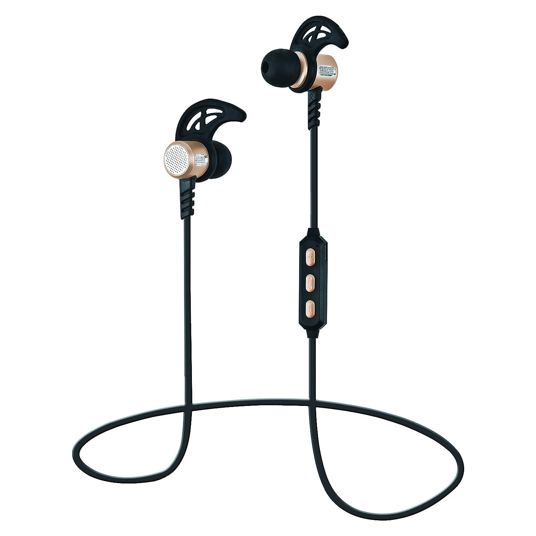 SuperSonic Magnetic Bluetooth Wireless Earphones & Mic Headphone, Gold