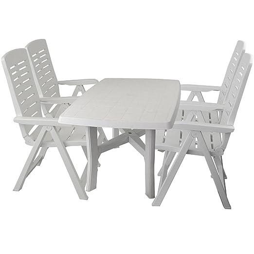 5 piezas. Resistente a la intemperie jardín muebles de jardín mesa ...