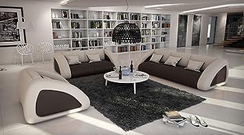 SAMR Sofa Garnitur Ciao Combi 3 2 1 Braun Creme