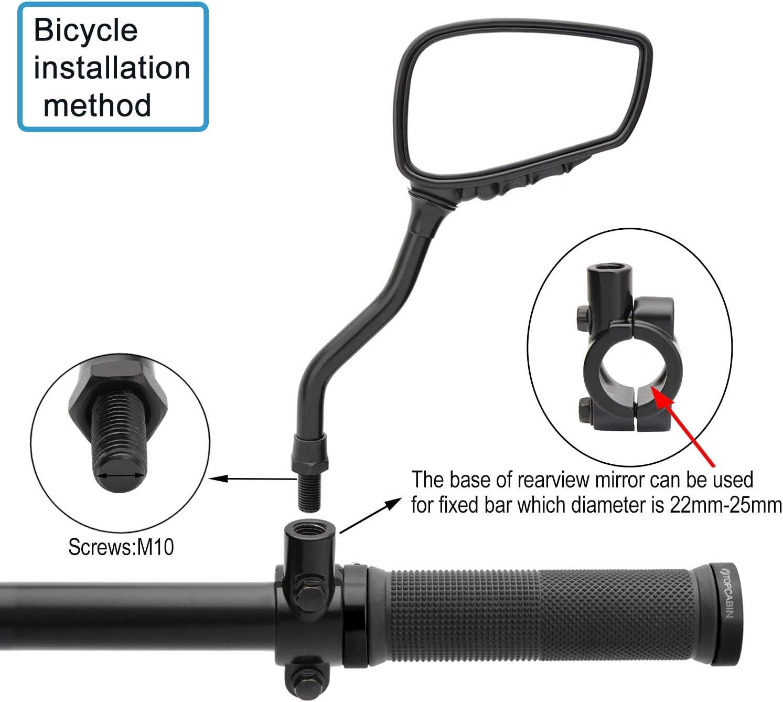 SDGDFXCHN 1 par de Espejos retrovisores para Bicicleta de Ciclismo con rotaci/ón de 360