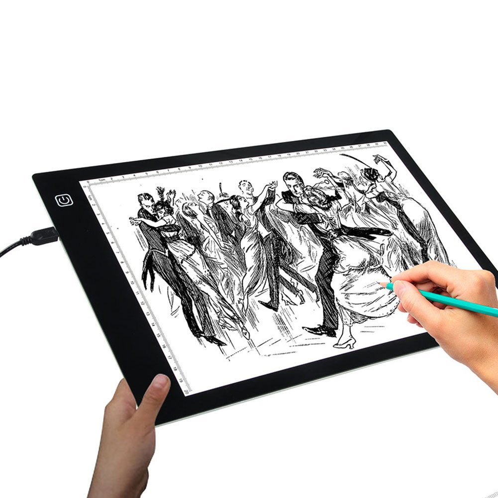 Tracing Light Box A4 Ultra-thin portable USB Power LED Artcraft Drawing Light pad for Artists, Drawing, Sketching, Animation X-ray Viewing
