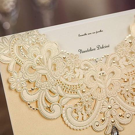 Tarjetas De Invitación Para Boda Color Azul Marino Y Dorado