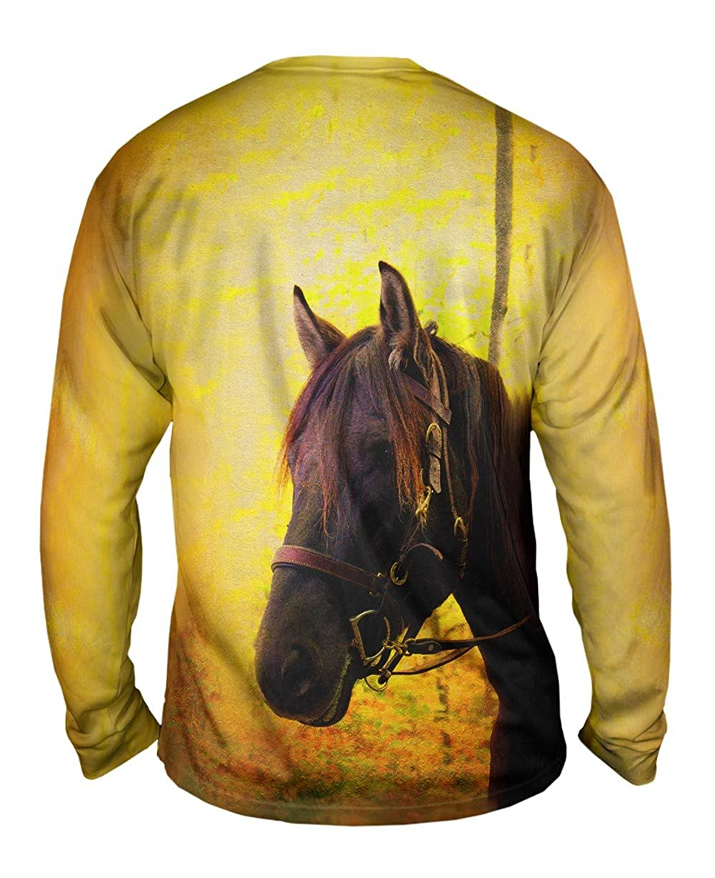 Yizzam TShirt Yellow Pride Horse Mens Long Sleeve