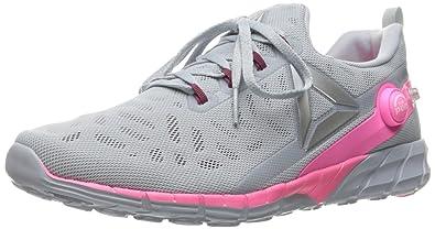 ce00c816d1 Reebok Women s Zpump Fusion 2.5 Walking Shoe Cloud Grey Rebel Berry Poison  Pink