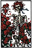 Licenses Products Grateful Dead Skeleton and Roses Magnet