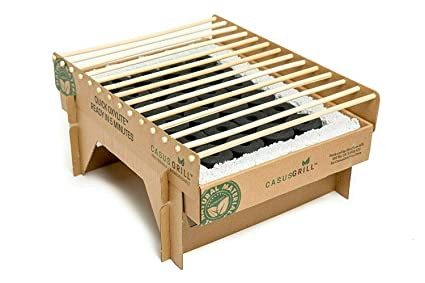 Amazon.com: CasusGrill - Parrilla biodegradable instantánea ...