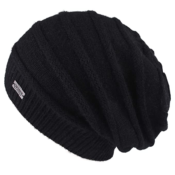 a8c6d201196 FURTALK Winter Knit Hats for Women- Cashmere and Merino Wool Slouchy Beanie  Skull Hat Caps