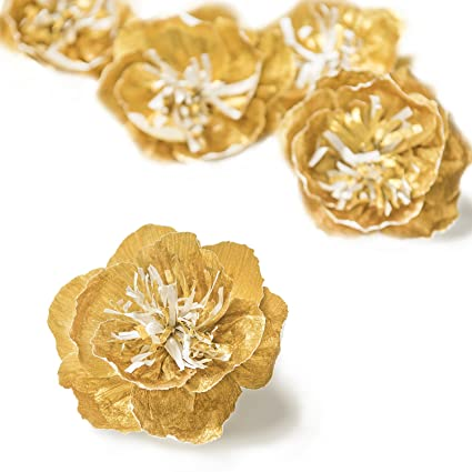 Amazon lings moment paper flowers 5 x 4 inch gold flowers lings moment paper flowers 5 x 4 inch gold flowers handcrafted small paper flowers mightylinksfo
