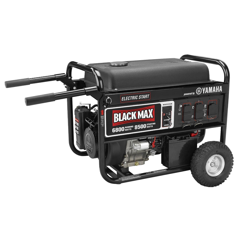 Black Max 6 800 Watt Portable Gas Powered Generator with Electric